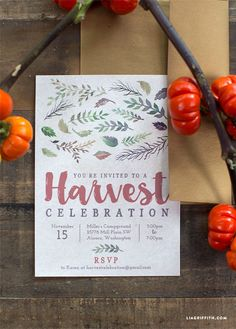 #HarvestParty #PartyInvitation www.LiaGriffith.com