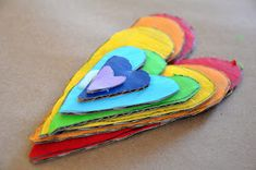 Little Bit Funky: 40 ideas Num 16 - Cardboard Art! Valentine Crafts, Valentines, Cardboard Art, Montessori Toddler, Pretty Art, All You Need Is, One Color, Craft Projects, Crafts For Kids