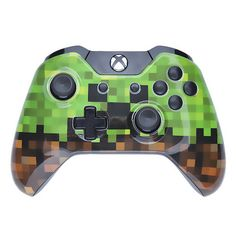 Get your hands on this fully functional - Minecraft styled Creeper - Xbox One Wireless Controller  Weve taken an Official Microsoft Xbox One Wireless Controller and modified it with....  a fully Custom 8-bit graphics shell featuring a Creepers face finished off with matte black buttons  Your Favourite Game, Deserves Your own Custom Controller. All designs are inspired by you, to meet your custom needs. 100% Official. We only use authentic Microsoft Controllers.  Includes 3.5mm headset jack…