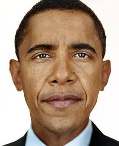Mister President by Martin Schoeller no photoshop or something else