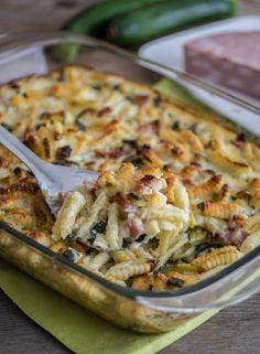 Cavati al forno con zucchine e mortadella