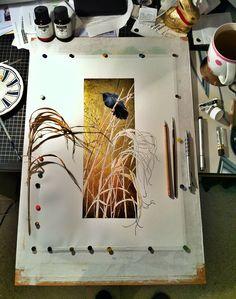 Grackle - work in progress by *Heliocyan on deviantART