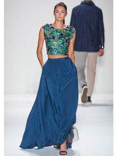 Timo Weiland Midriff Blue Spring 2013 Runway - Best Trends from Spring 2013 Fashion Week - Marie Claire