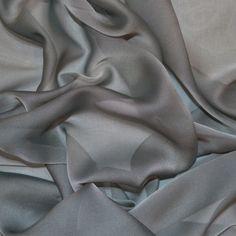 Silver Cationic Chiffon Fabric (Col 21)