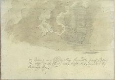 An Opening in a Cloudy Sky (Smaller Italian Sketchbook, leaf 13 recto)  Joseph Wright of Derby - 1774-75(?)