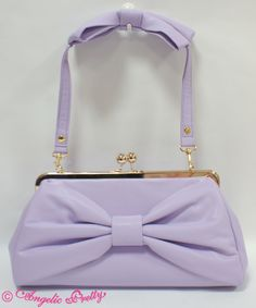 Angelic Pretty's Royal Ribbon 3 Way Clutch Bag in Lavender