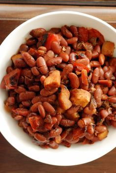 Colombian-Style Red Beans with Plantains