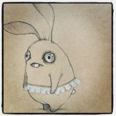 Follow your dreams. Critter sketch by Amanda Louise Spayd