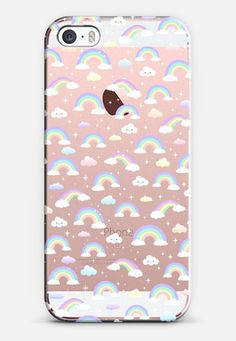 Pastel rainbow where the unicorns live :) iPhone SE case by Marta Olga Klara | @casetify