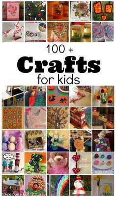This is amazing. A selection of over 100 crafts for kids. Lots of easy and fun ideas.