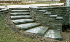 retaining wall ideas - Curved Steps with Corners Parallel to the ...
