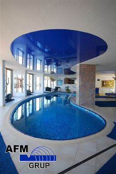 Stretch Ceiling Work, Indoor Swimming Pool projection, Captain Hotel Alanya/Antalya/Turkey
