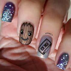 5.3.2017 Guardians of the Galaxy nails baby Groot