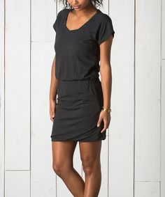 Another great find on #zulily! Storm Gray Banded Organic Shift Dress by Toad&Co #zulilyfinds