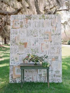 botanical print backdrop