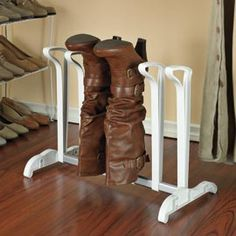 Boot rack holds the shape of your boots. - OMG YES!!
