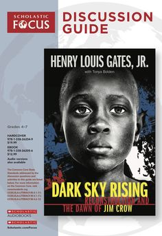 Discussion questions and extension activities to pair with Dark Sky Rising: Reconstruction and the Dawn of Jim Crow by Henry Louis Gates, Jr. and Tonya Bolden! Reading Resources, Teacher Resources, Classroom Tools, Jim Crow, Dark Skies, African American History, Nonfiction, True Stories, Gates