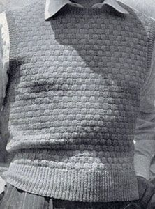 Basket Weave Pullover knit pattern from Sweaters for Men & Boys, originally published by Jack Frost, Volume No. 40, from 1947.