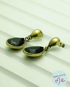 Brinco Ouro Velho Gota Preta - R$ 39,90    Disponível na nossa loja virtual: http://bzz.ms/brincoourvgtpr