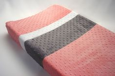 I love how this is different, ordering in Coral/Navy/Grey...Changing Pad Cover Color Block on Etsy, $22.00
