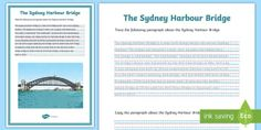 The Sydney Opera House Handwriting Activity Sheet - The sydney opera house handwriting activity sheet, handwriting, worksheet, creating texts, year A Handwriting Activities, English Resources, Year 6, Australian Curriculum, Activity Sheets, Classroom Displays, Stressed Out, Sydney Harbour Bridge, Things To Know