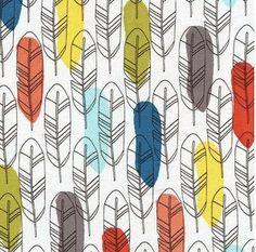 MODERN Crib Sheets - Standard or Mini Crib Sheet / #Feathers Fitted Crib Sheet / Rainbow Colors Nursery Bedding