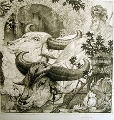 Edward Julius Detmond, English, At the Edge of the Lotus Pool, marilynpink.com