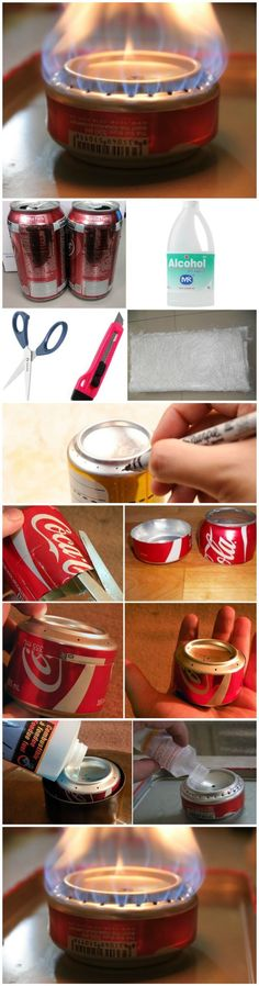 Nice ** How To Build a Coke Can Stove for Hiking and Camping...
