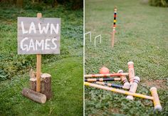 Lawn games - good idea for keeping guests entertained while wedding party away doing photos.