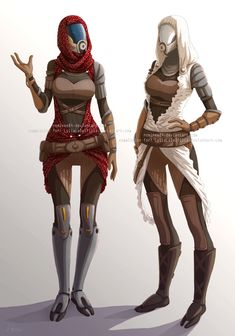 Quarian sisters by nominee84 From the world of #MassEffect