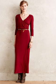 Crimson and Boots | From Anthropolgie | Rhiannon Maxi Dress