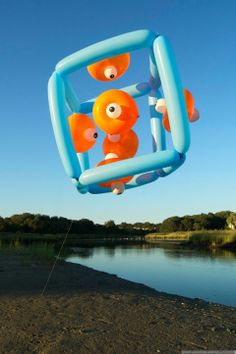 Float, Balloon Sculptures by Janice Lee Kelly Lee Kelly, Janice Lee, Floating Balloons, Rubber Duck, Sculptures, Outdoor Decor, Windows, Design, Home Decor