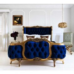 Buy the beautifully designed The Palais de Versailles Sacré Bleu Velvet Bed, by The French Bedroom Company. Shop 24 hours a day for Effortless Luxury Online. Furniture, French Style Bed, Bedroom Design, French Furniture, Bedroom Furniture, Bed, French Bedroom, Bed Styling, Luxury Bedding