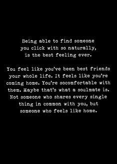 Soulmate and Love Quotes : QUOTATION – Image : Quotes Of the day – Description Soulmate And Love Quotes: My best friend my soulmate. You are that someone who feels like Home PB. You ar Sharing is Power – Don't forget to share this quote ! Now Quotes, Love Quotes For Him, Quotes To Live By, Life Quotes, Thankful Love Quotes, You Are Awesome Quotes, Scared To Love Quotes, Be With Someone Who Quotes, Meeting Someone New Quotes