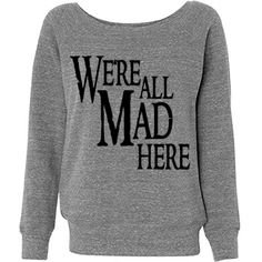 We're All Trendy Here Junior Fit Bella Triblend Slouchy Wideneck Sweatshirt