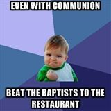 score another 1 for the Lutherans! #Lutheran #humor