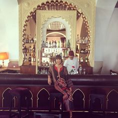 I'm fully into this #caftan thing! #caidspianobar #elminzah #tangier