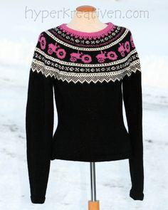 Traktor og Marius i skjønn forening! Needlework, Knit Crochet, Pullover, Knitting, Blouse, Sweaters, Inspiration, Tops, Women