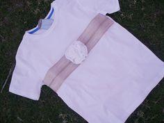 Camiseta Flor de Gasa/Yute