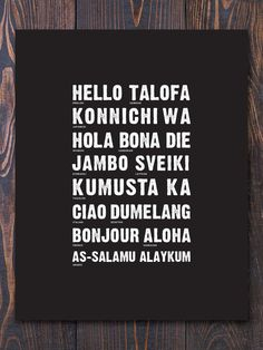 Love this language print. Great for an entryway.