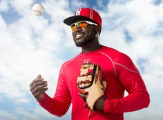 Cincinnati Reds second baseman Brandon Phillips is set to storm the field in Under Armour sunwear style Igniter 2.0 from Eyeking.