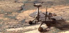 The Opportunity Rover has discovered some of the oldest evidence of past water on Mars – confirming there may have once been life on the Red Planet. Image: NASA.