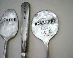 vintage silverware garden markers