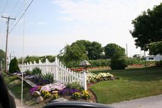 Love the neatness of the edging of this Amish garden