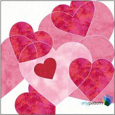 Hearts Block Applique