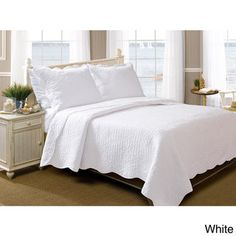Greenland Home Fashions La Jolla Seashell Pure Cotton 3-piece Quilt Set - Free Shipping Today - Overstock.com - 16433697 - Mobile