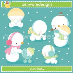 and baby clipart Snowman Baby Clipart Clipart Baby, Cute Clipart, Cute Doodles Drawings, Pretty Drawings, Snowman Clipart, Pretty Writing, Kindergarten, Kawaii Illustration, Arctic Animals