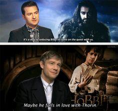 (gif set) Thilbo ||| Richard Armitage and Martin Freeman ||| The Hobbit
