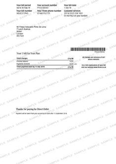 Three Utility Bill Utility Bill, Bank Statement, Sheet Music, Music Sheets