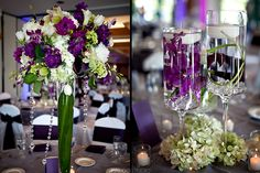 Purple table decor - Wedding decor